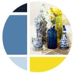 simbolo giallo blu