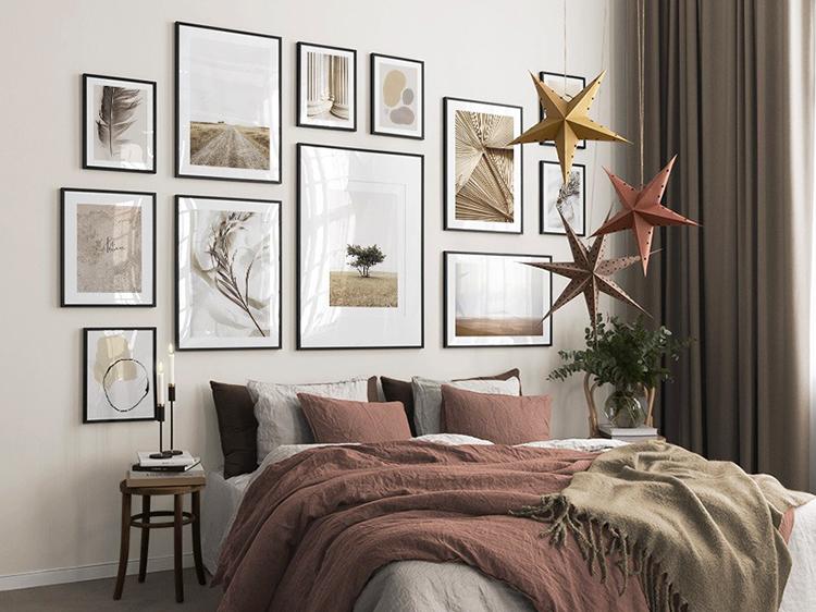 Idee per decorare la parete dietro al letto