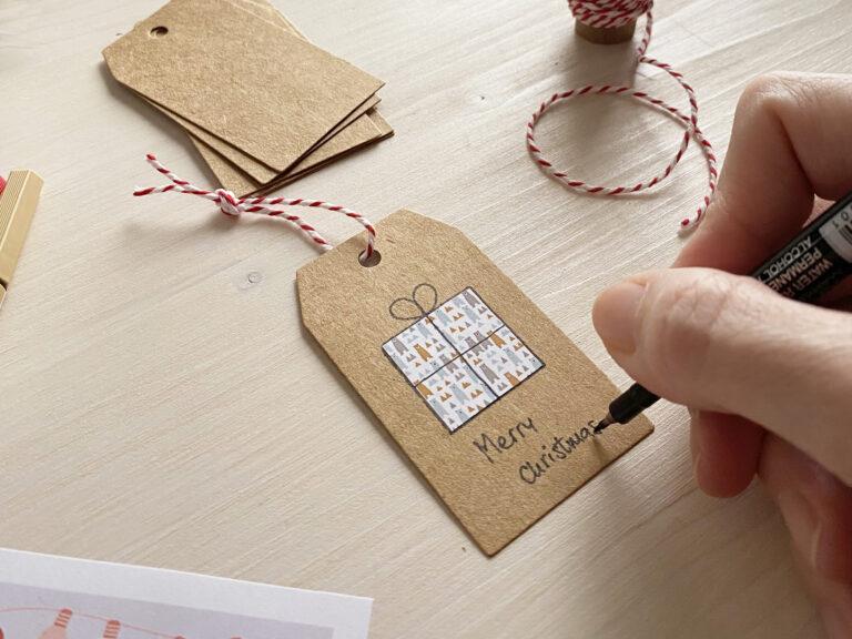 Come realizzare biglietti di auguri di Natale, semplici e graziosi