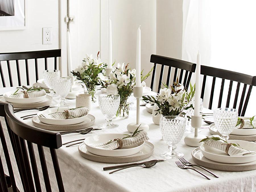 tavola delle feste stile scandinavo