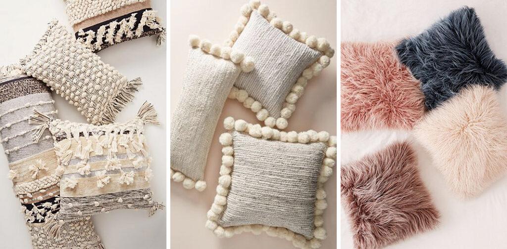 cuscini materiali