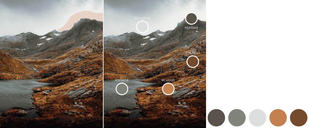 creare moodboard dal colore